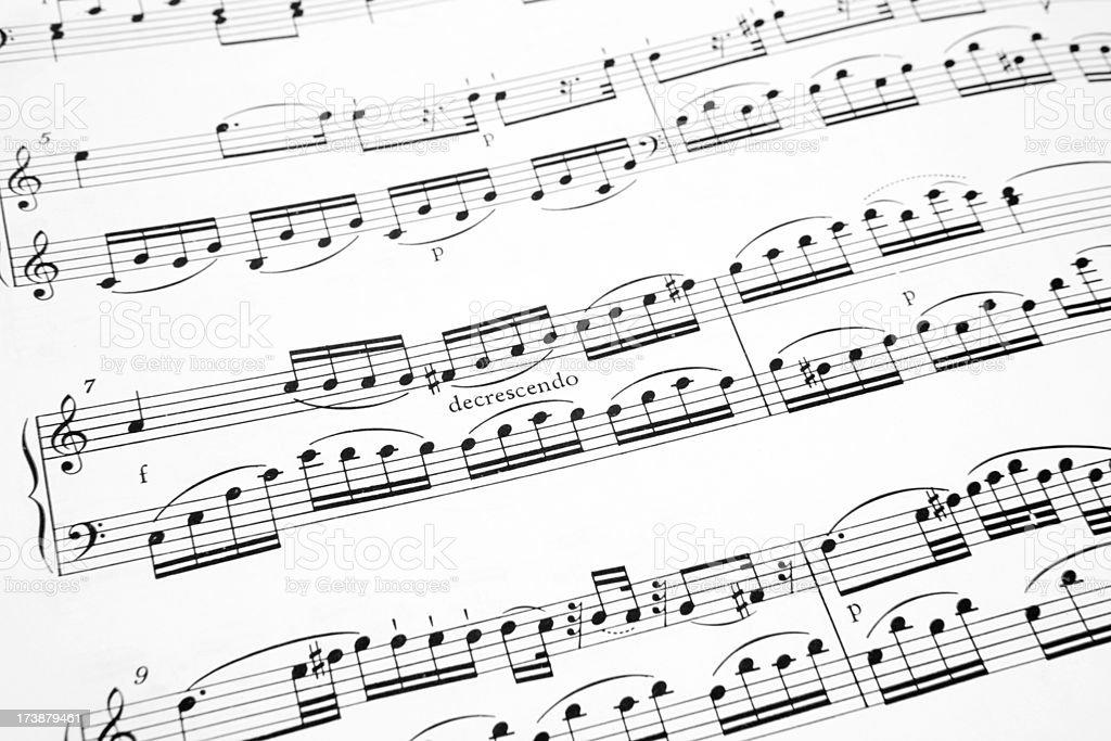 Classical Sheet Music stock photo