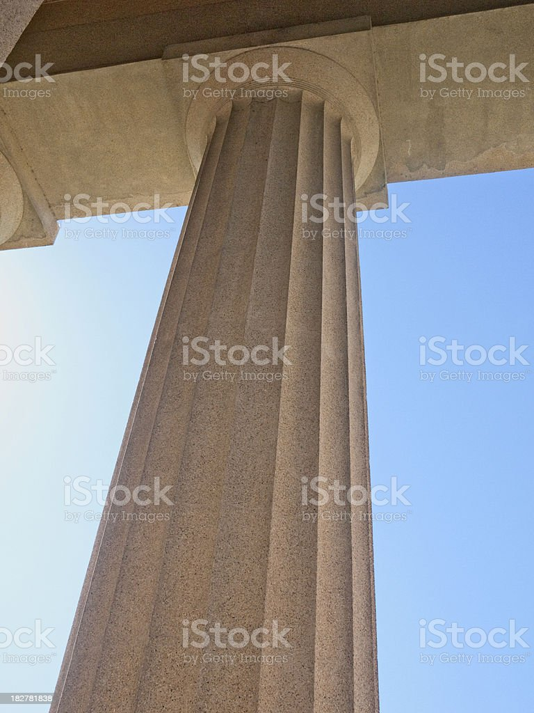 Classical stone column royalty-free stock photo