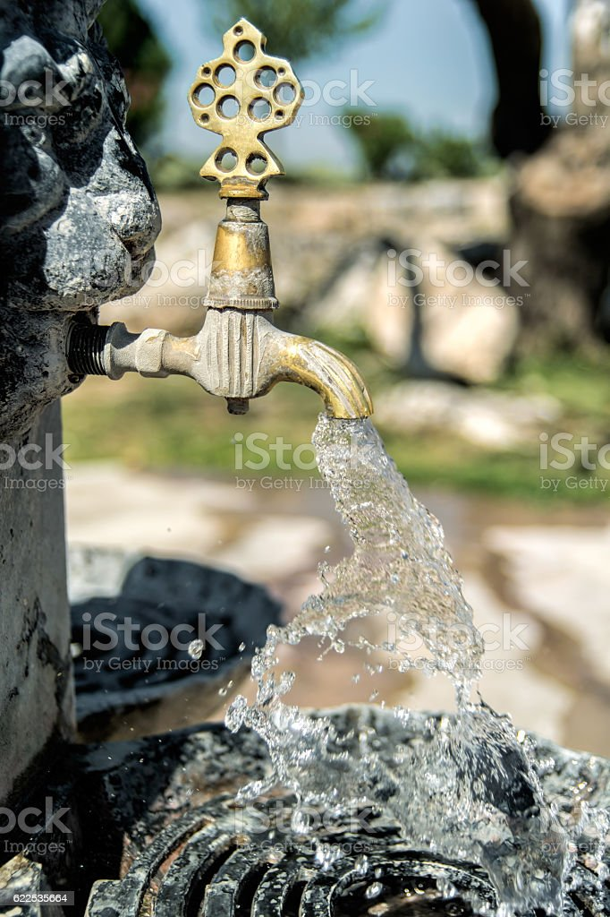 Classical style faucet stock photo