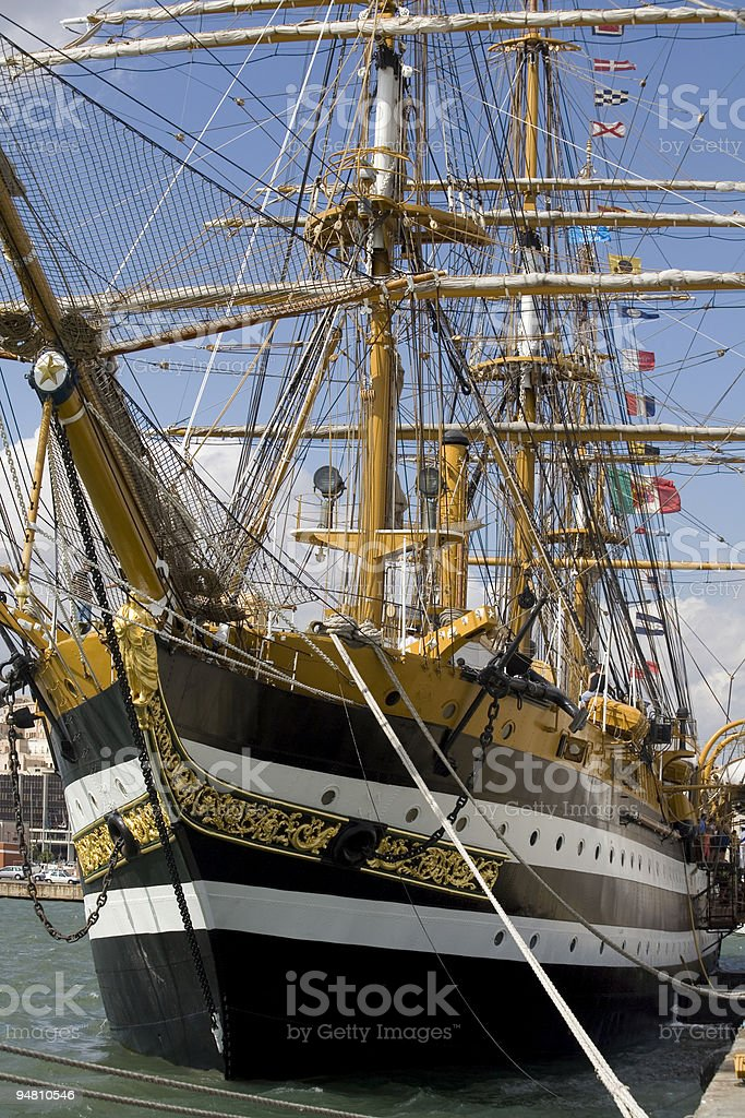 classical tall ship royalty-free stock photo