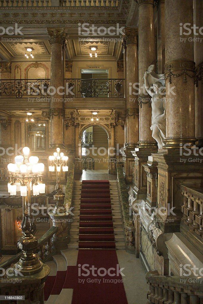 Classical Theatre entrance royalty-free stock photo