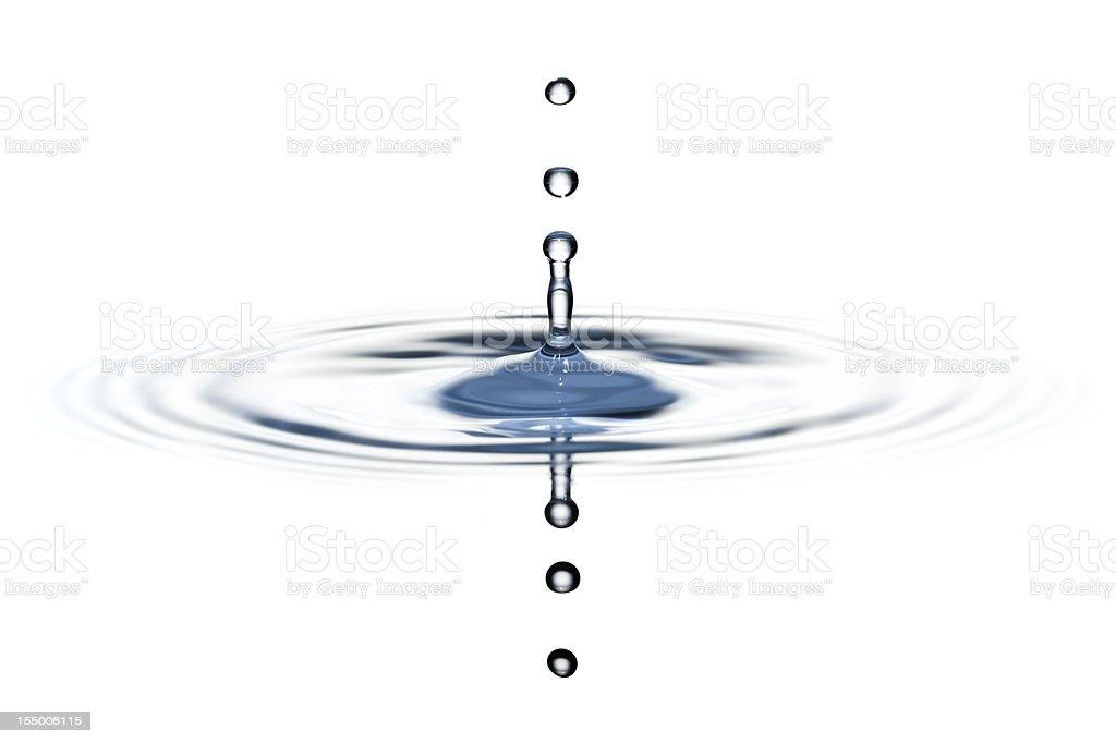 Classical three water drop splash royalty-free stock photo