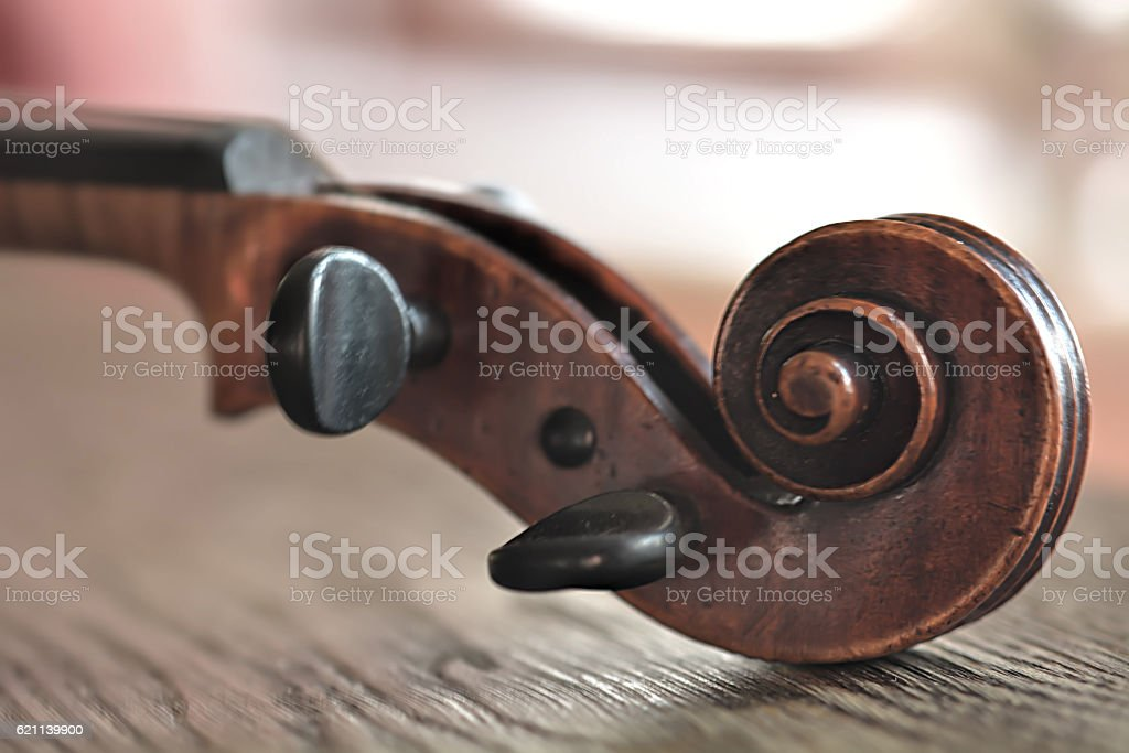 Classical violin detail. Shallow depth of field stock photo