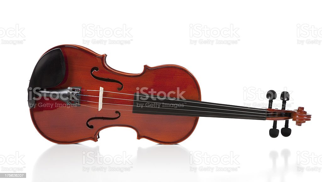 Classical Violin on White royalty-free stock photo