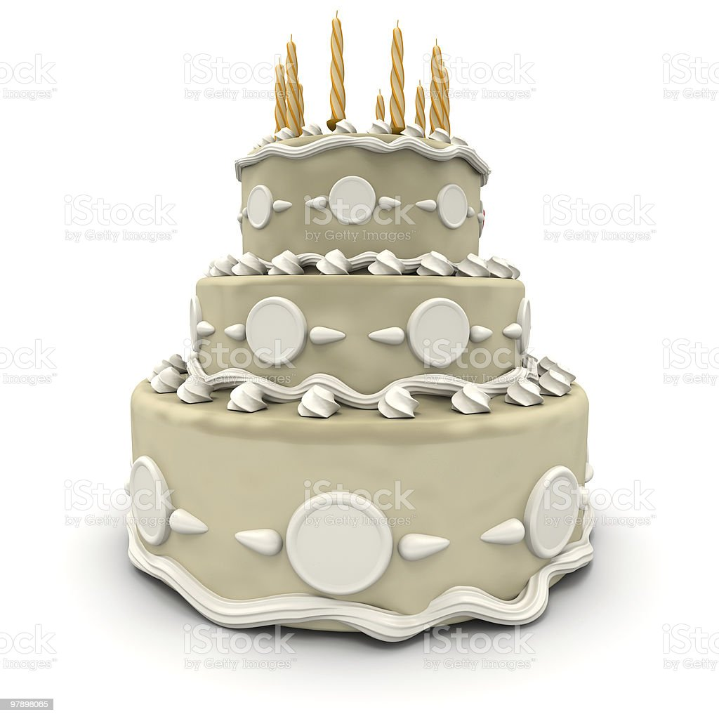 Classical wedding cake royalty-free stock photo