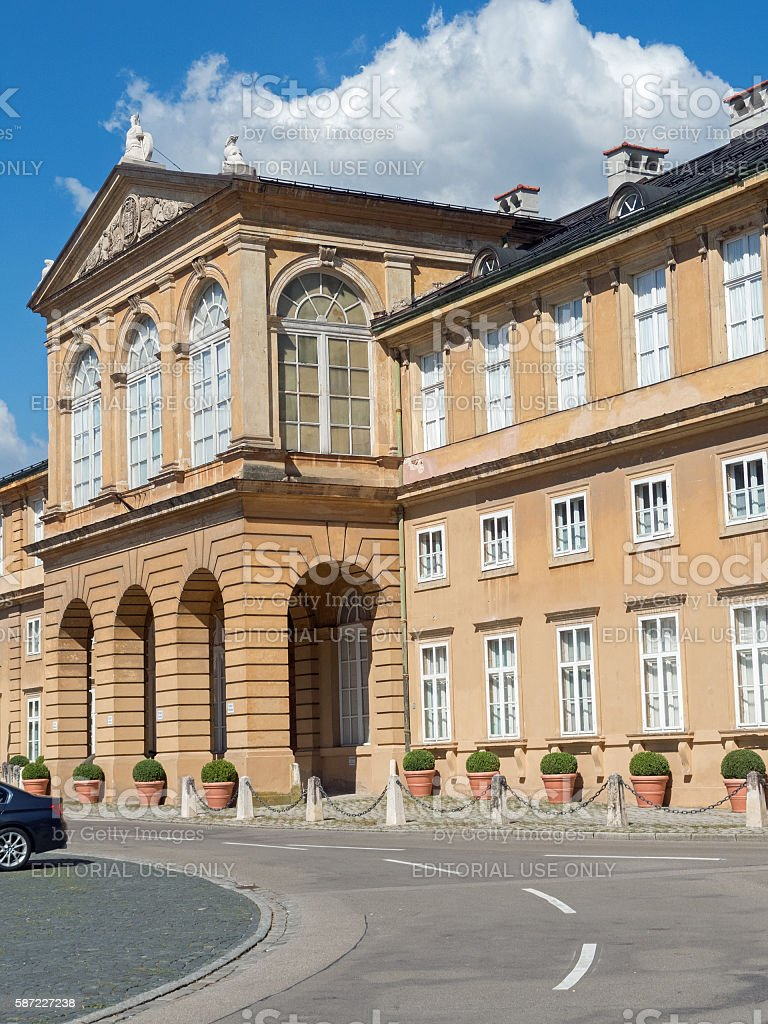 Classicism in the small franconian town Pappenheim - Neues Schloß stock photo