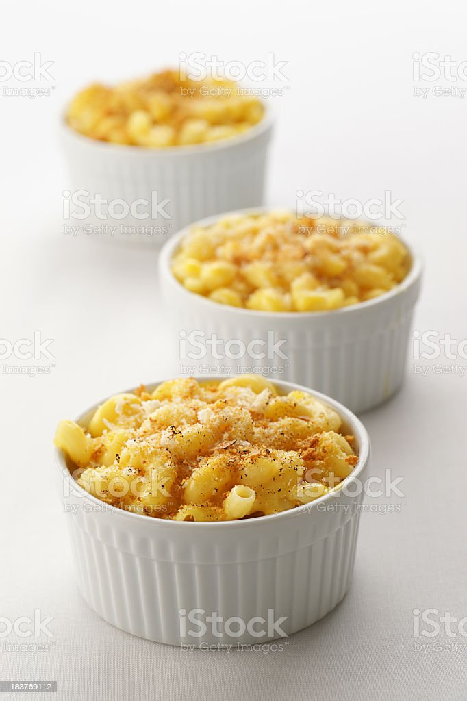 Classics Dinner Idea: Baked Macaroni and Cheese stock photo