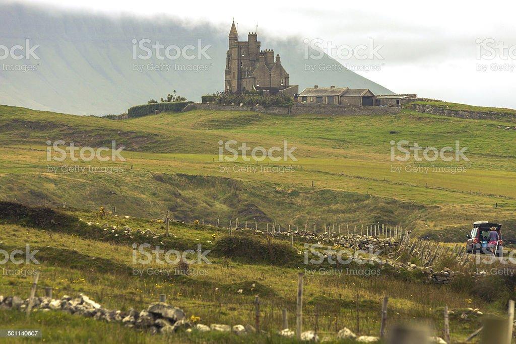 Classiebawn Castle Mullaghmore stock photo