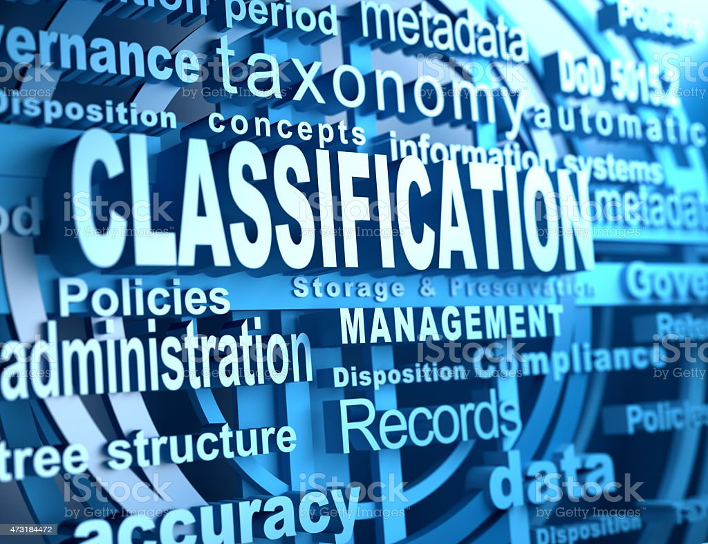 Classification stock photo