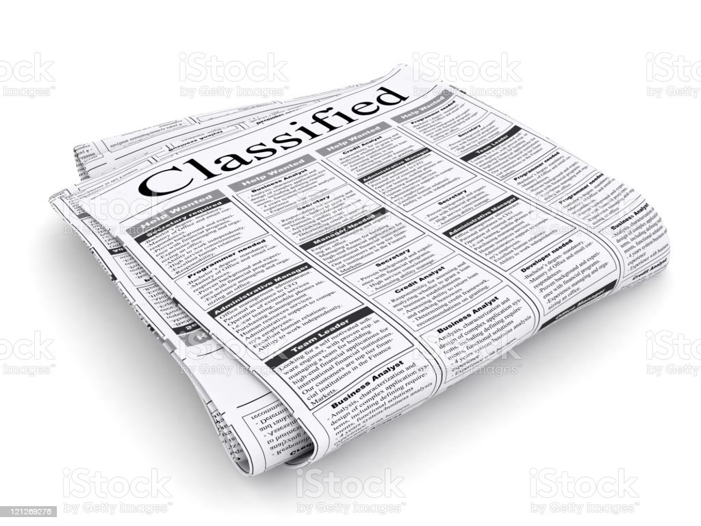 Classified Advertisements stock photo