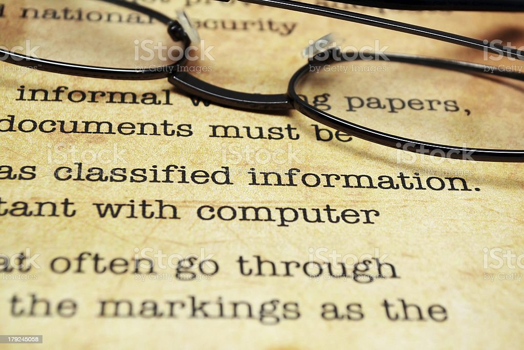 Classified document royalty-free stock photo