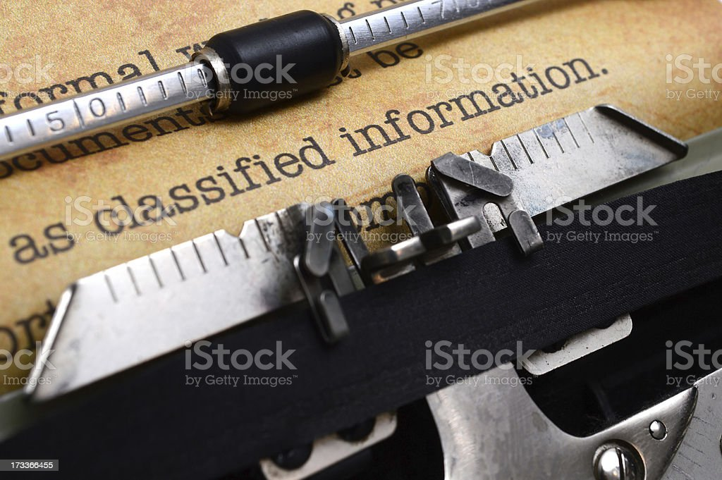 Classified information royalty-free stock photo