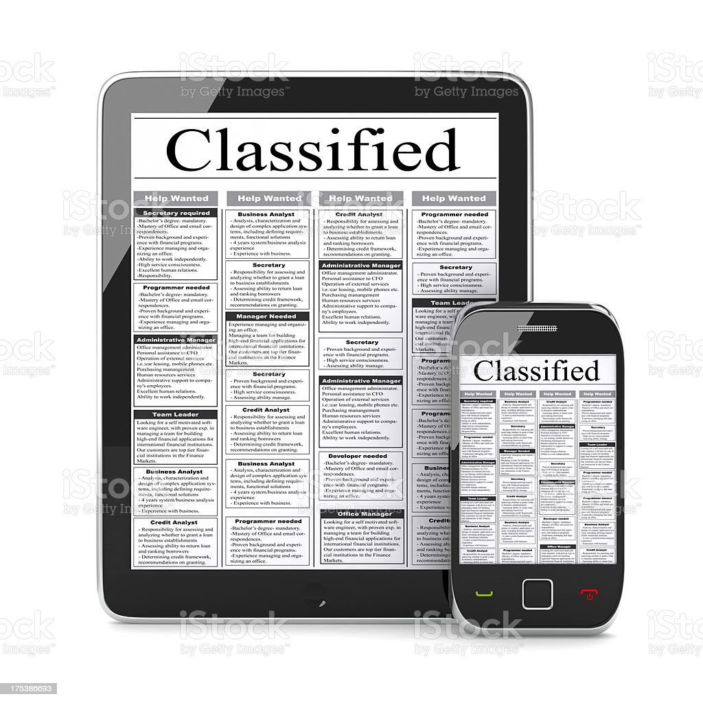 Classified Listings stock photo