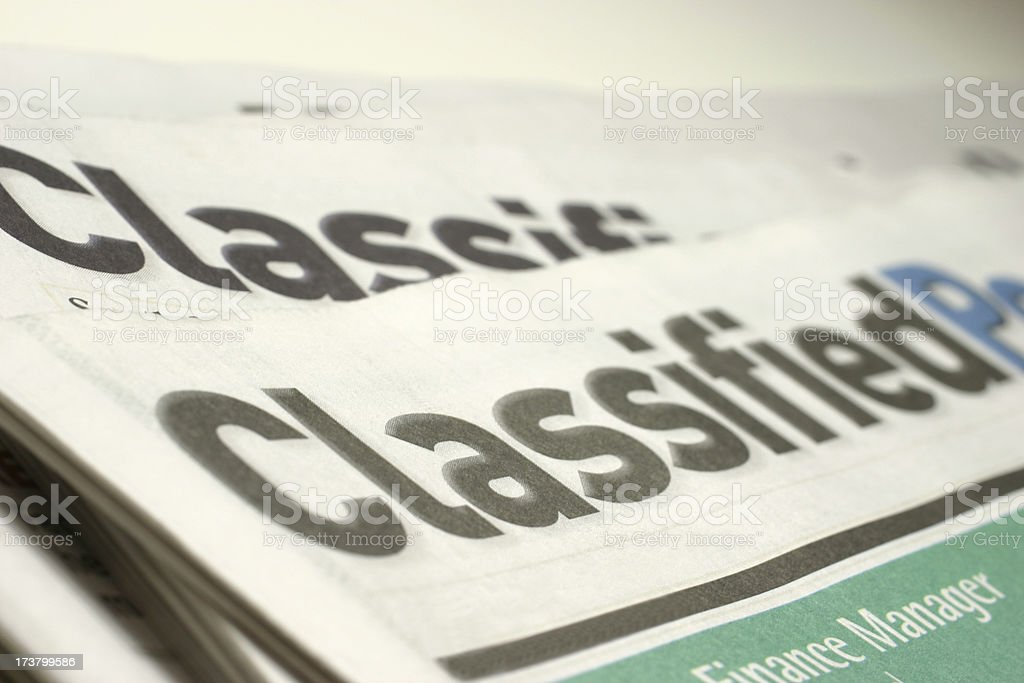Classified Newspaper royalty-free stock photo