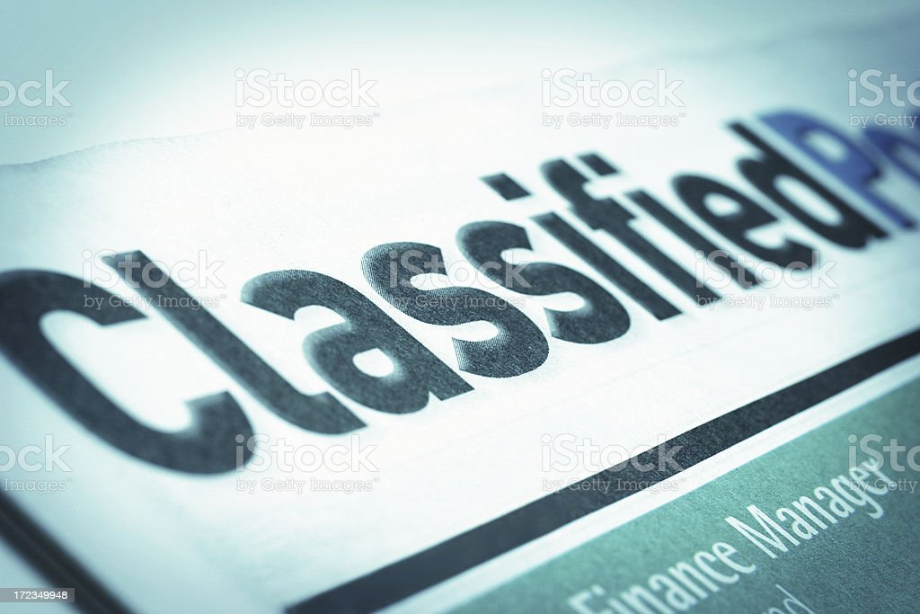 Classified royalty-free stock photo