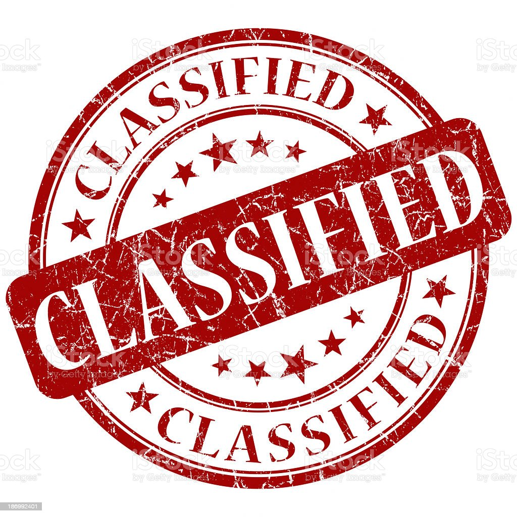 classified red round stamp stock photo