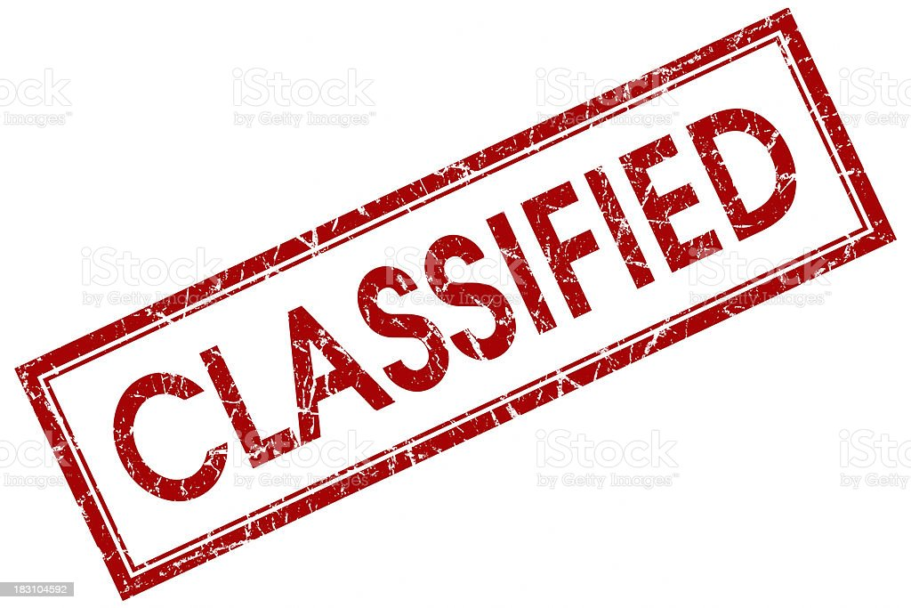 classified red stamp stock photo