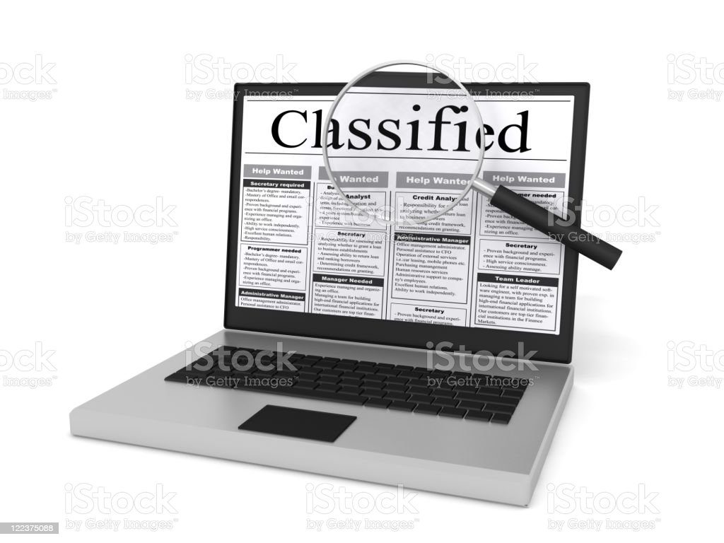 Classified Search stock photo
