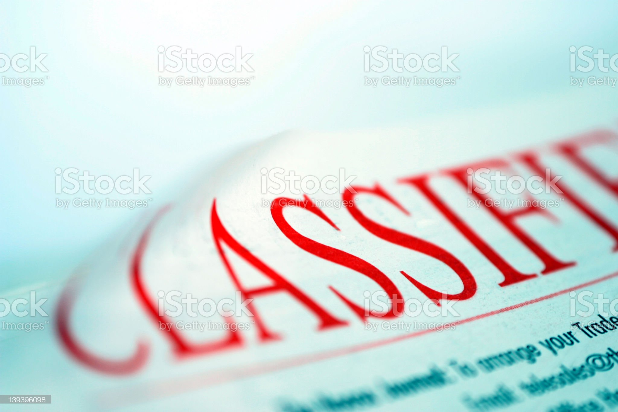 Classified Section royalty-free stock photo