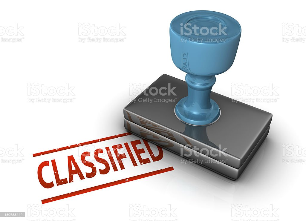 Classified Stamp royalty-free stock photo