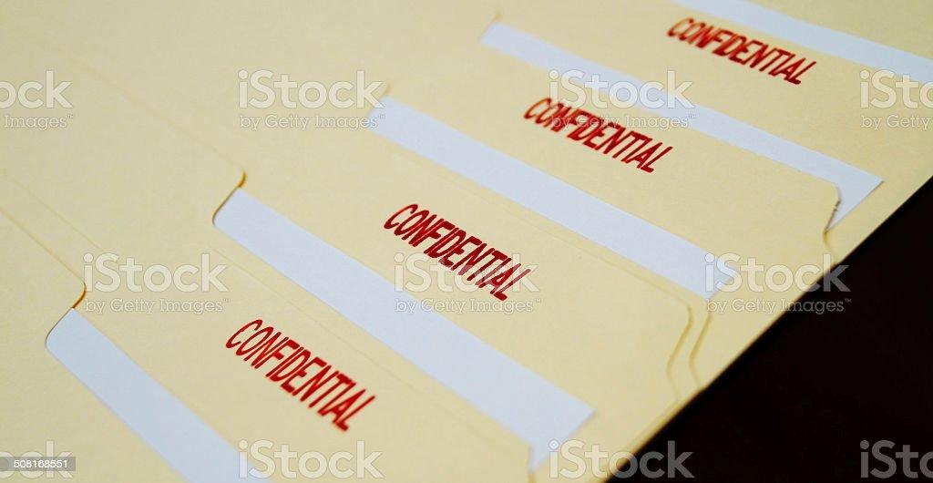 Classified Top Secret Documents stock photo