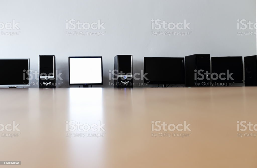 classroom and computers royalty-free stock photo