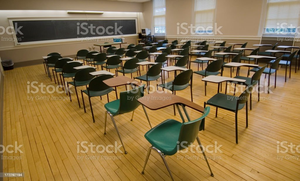Classroom Before Testing royalty-free stock photo