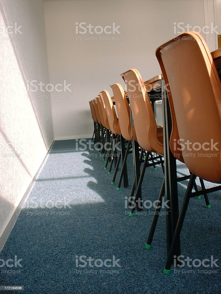 Classroom - Chairs royalty-free stock photo