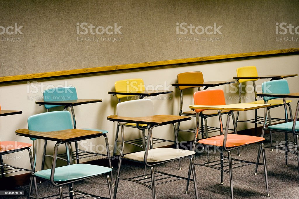 classroom chairs royalty-free stock photo