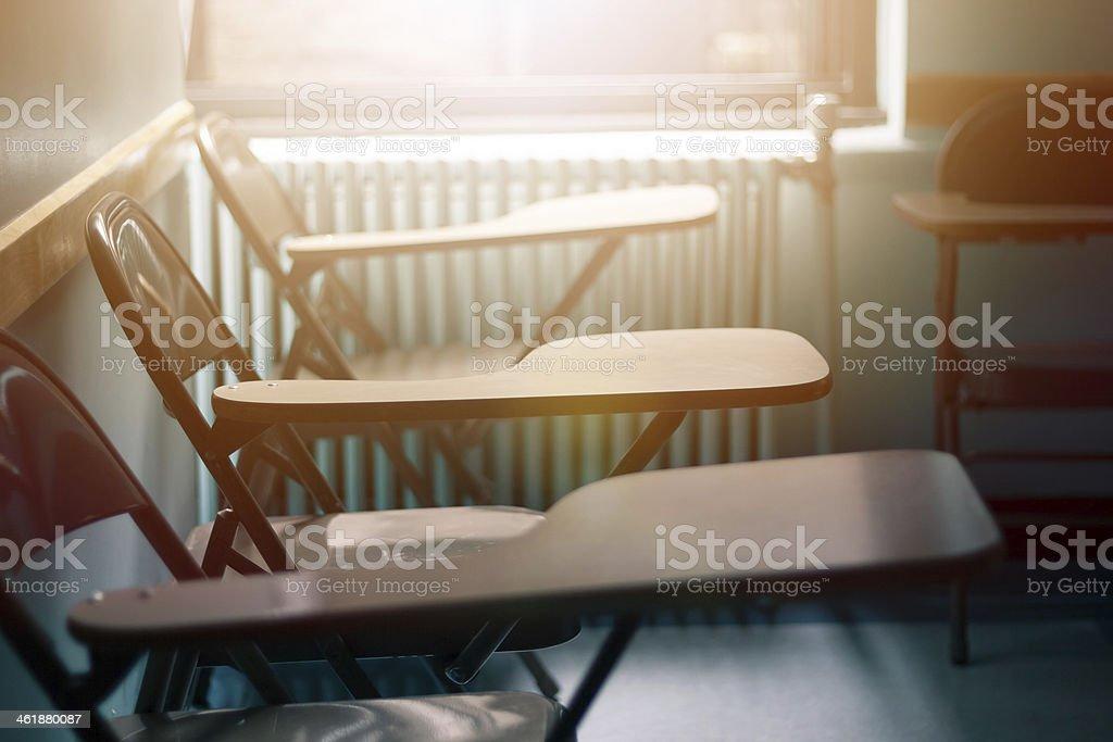 Classroom chairs stock photo