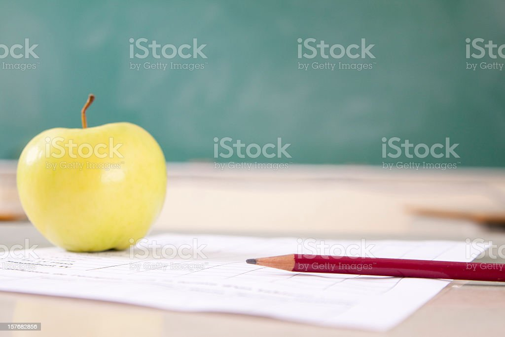 Classroom Chalkboard Copy Space stock photo