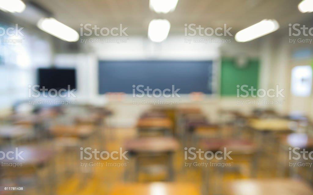 Classroom in Bokeh stock photo