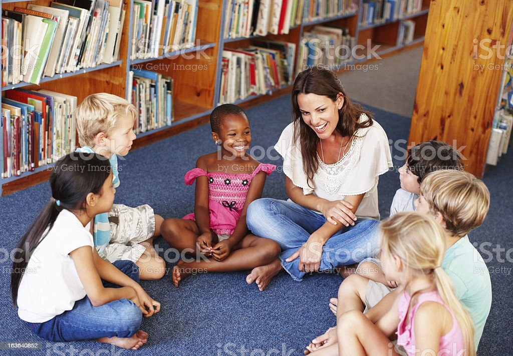 Classroom in the library royalty-free stock photo