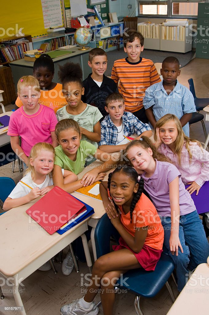 Classroom kids royalty-free stock photo