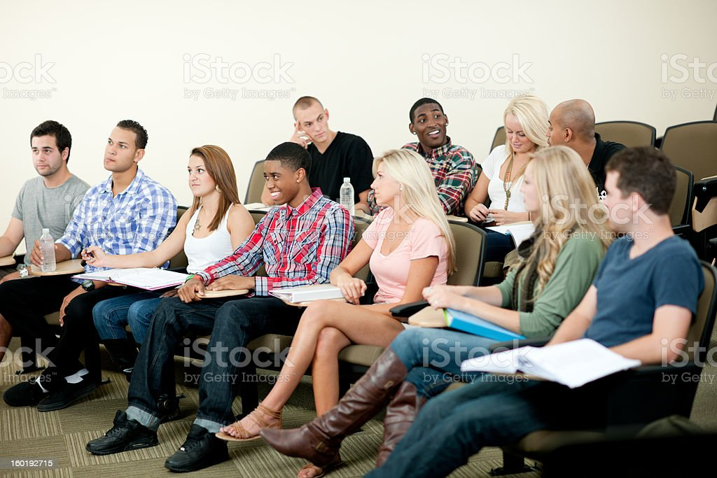 Classroom of Students royalty-free stock photo