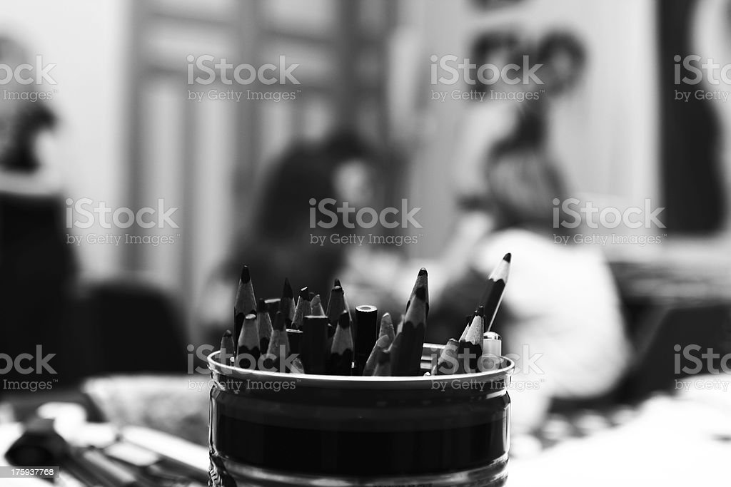 Classroom Pencils royalty-free stock photo