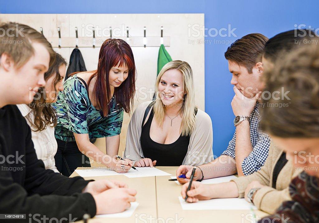 Classroom situation stock photo