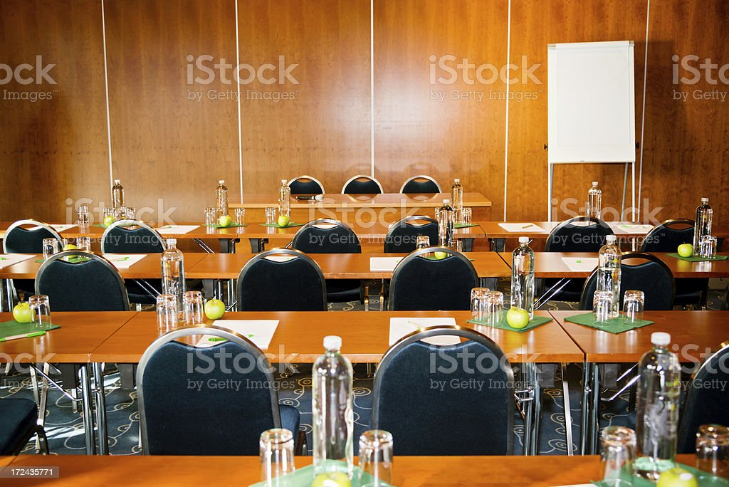 classroom with refreshments royalty-free stock photo