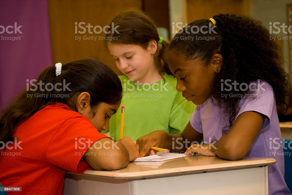 Classroom Work royalty-free stock photo