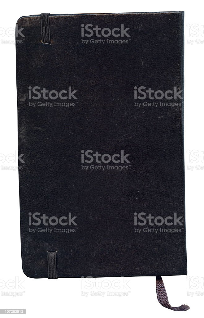Classsic notebook back cover stock photo