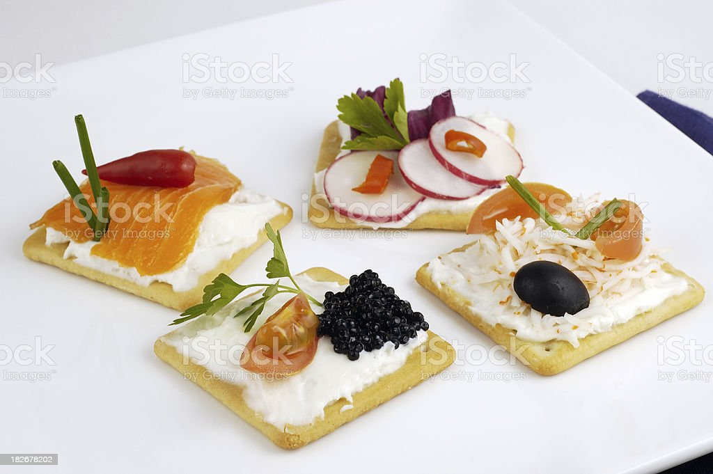 Classy appetizers royalty-free stock photo