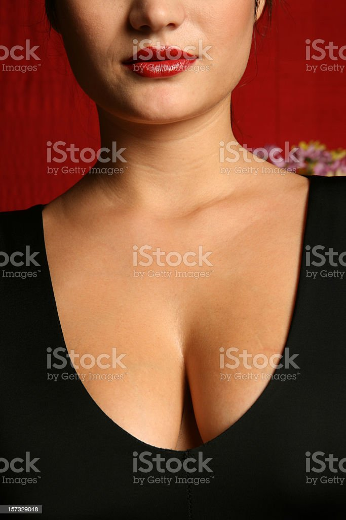 Classy cleavage stock photo