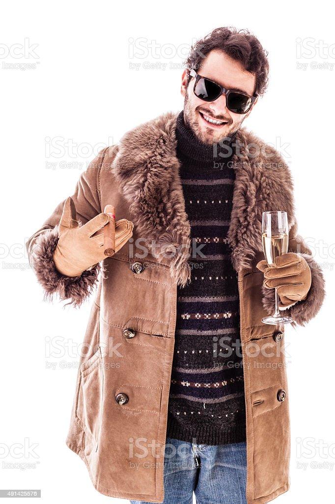 Classy dude stock photo