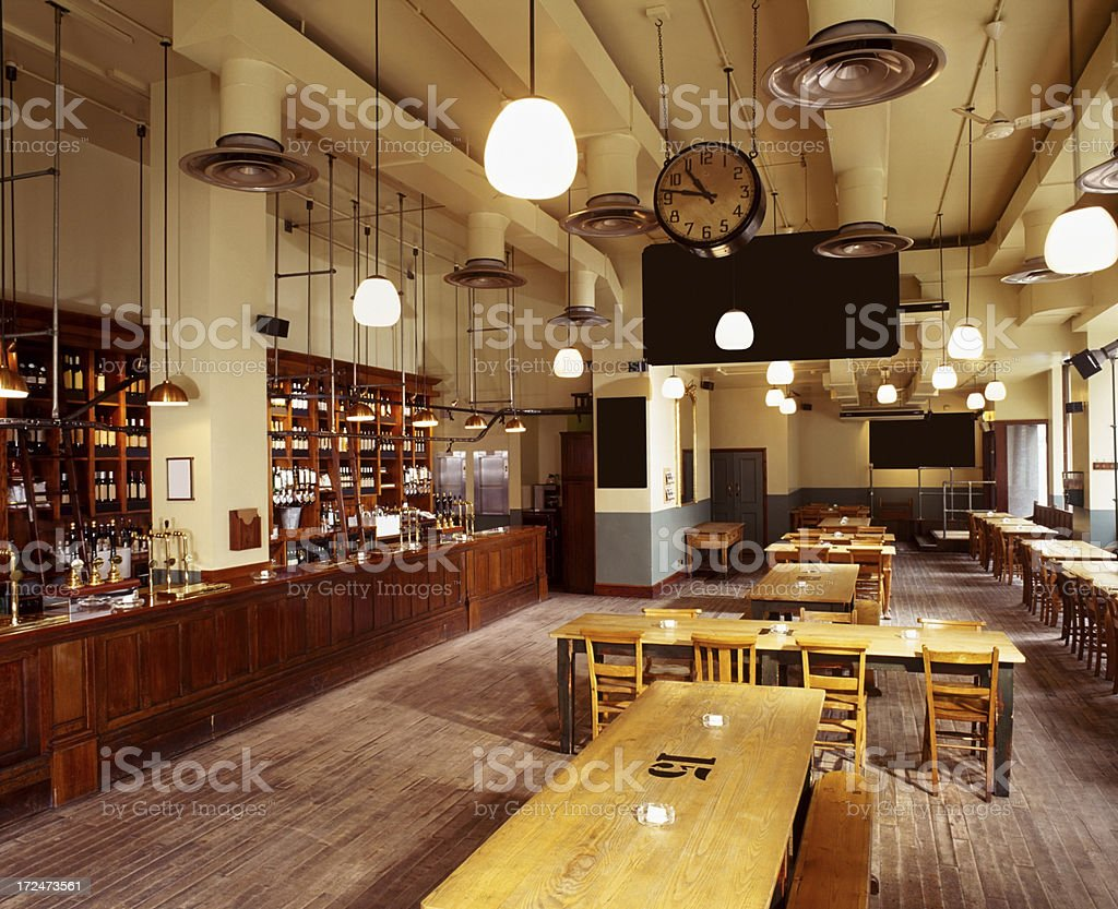 Classy empty bar stock photo
