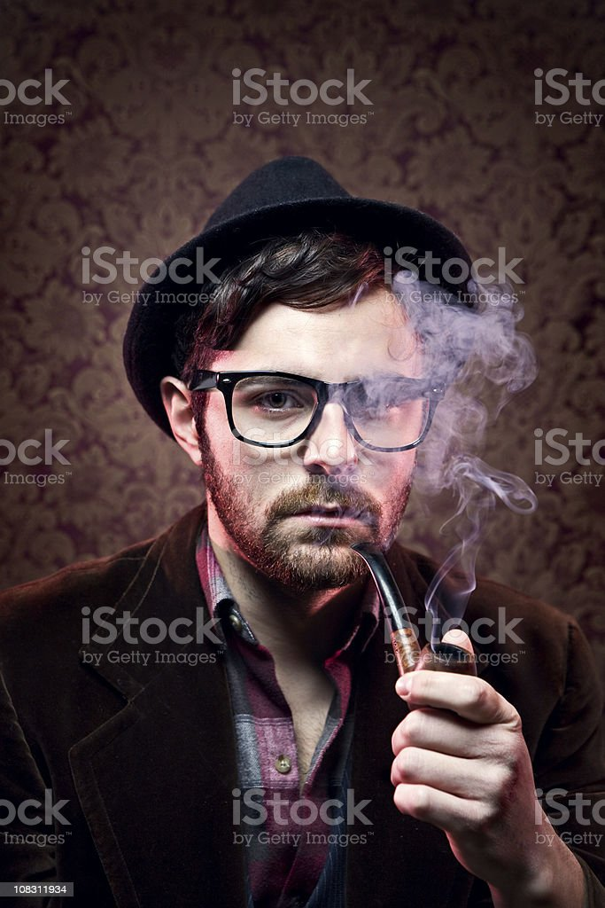 Classy Hipster Portrait stock photo
