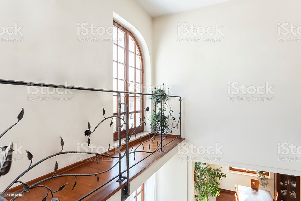 Classy house - Banister stock photo