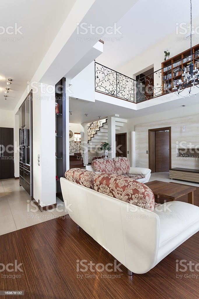 Classy house - living room royalty-free stock photo