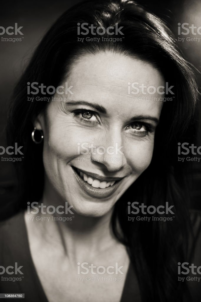 classy middle aged woman stock photo
