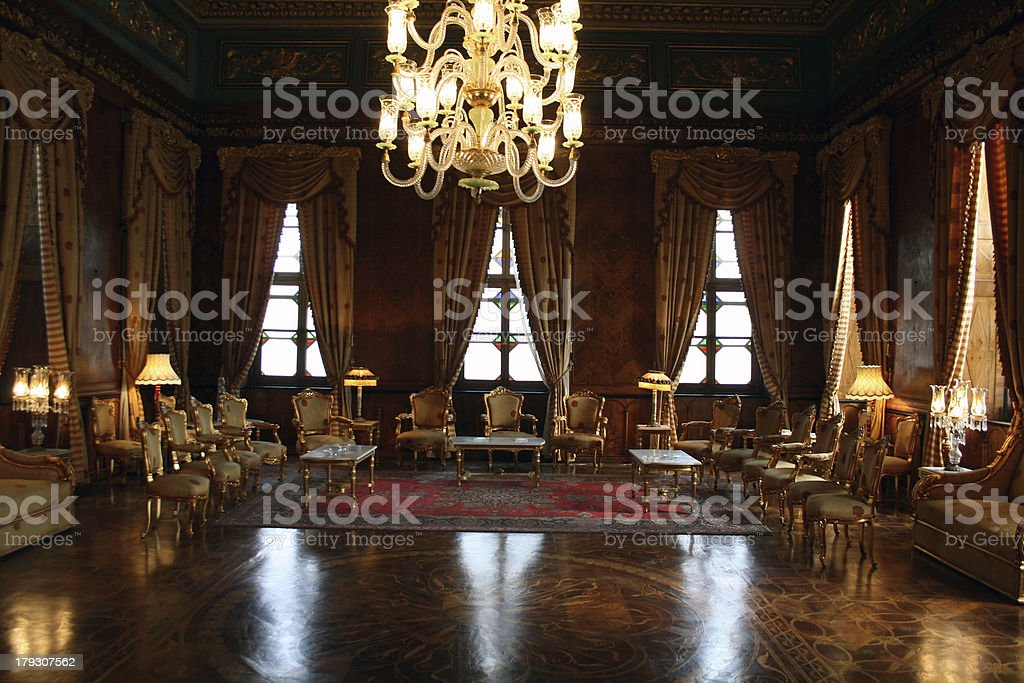 Classy Reception room - Mohamed Ali Palace in Egypt stock photo