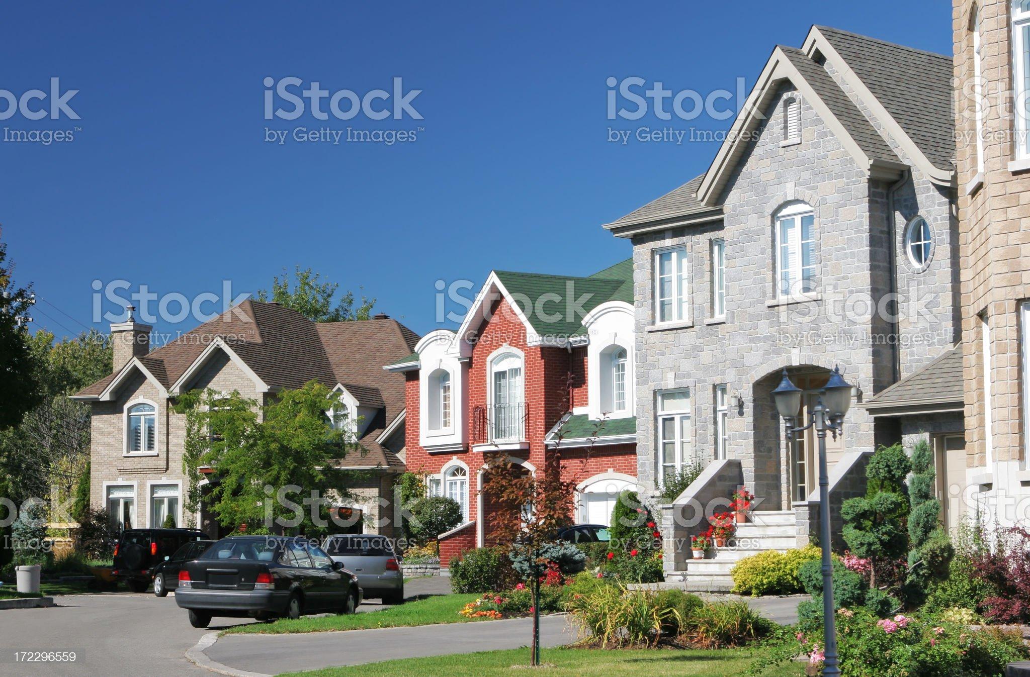 Classy Residential Neighborhood royalty-free stock photo